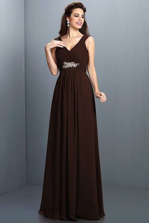 A-Line Chiffon Long Sleeveless Bridesmaid Dress - 9