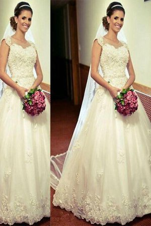 Tulle Natural Waist Sweetheart Sleeveless Ball Gown Wedding Dress - 1