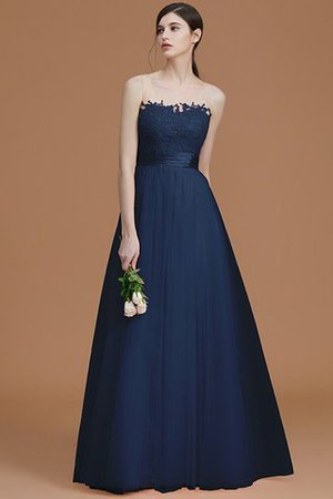 Tulle Zipper Up A-Line Appliques Bridesmaid Dress - 16