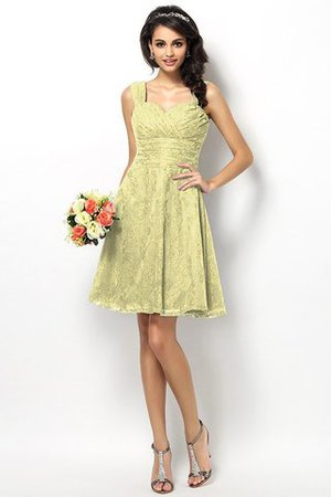 Wide Straps Short Sleeveless Natural Waist Satin Bridesmaid Dress - 8
