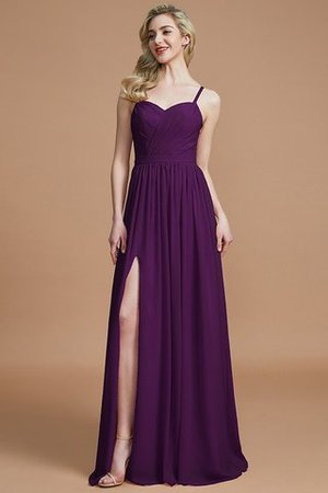 Natural Waist Sleeveless Floor Length Princess Chiffon Bridesmaid Dress - 18