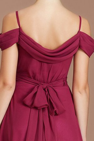 Chiffon Floor Length A-Line Ruched Bridesmaid Dress - 4