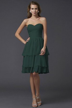 Short Chiffon Sheath Sleeveless Zipper Up Bridesmaid Dress - 9