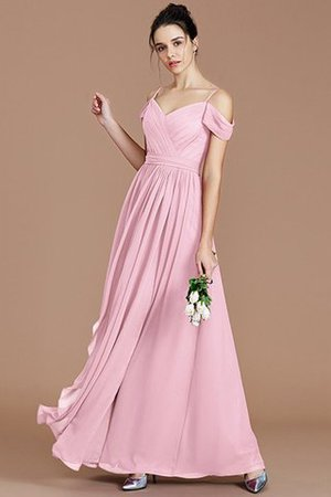 Chiffon Floor Length A-Line Ruched Bridesmaid Dress - 28