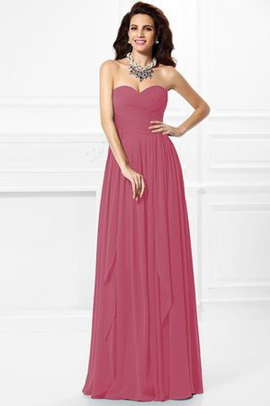 A-Line Zipper Up Long Floor Length Bridesmaid Dress - 27