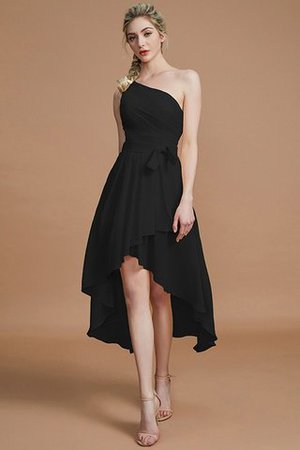Asymmetrical Chiffon Natural Waist Bridesmaid Dress - 7