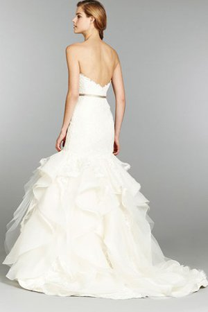 Short Sleeves Off The Shoulder Dropped Waist A-Line Wedding Dress - 2