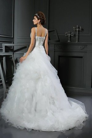 Empire Waist V-Neck Organza Ball Gown Sleeveless Wedding Dress - 2