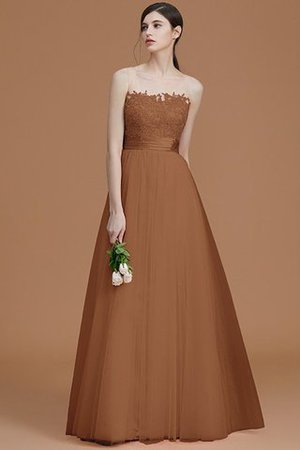 Tulle Zipper Up A-Line Appliques Bridesmaid Dress - 8