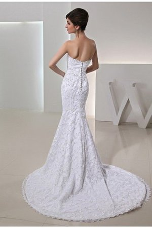 Mermaid Lace Zipper Up Sleeveless Court Train Wedding Dress - 2