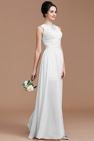 Ruched Zipper Up Natural Waist Jewel Sleeveless Bridesmaid Dress - 35
