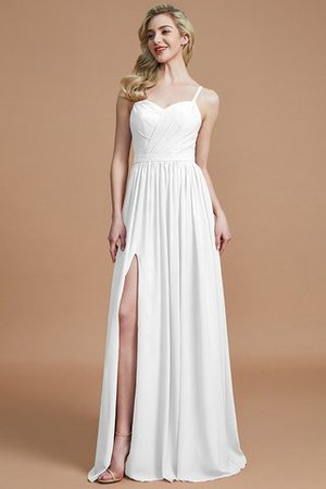 Natural Waist Sleeveless Floor Length Princess Chiffon Bridesmaid Dress - 34