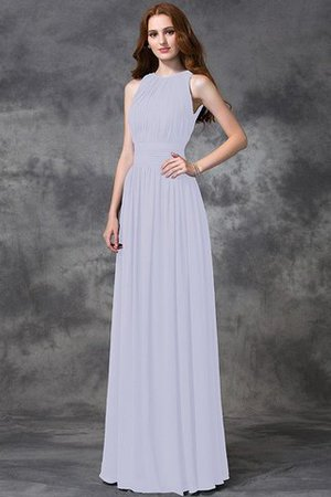 Sleeveless Ruched Natural Waist Chiffon Long Bridesmaid Dress - 29