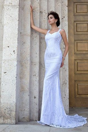 Zipper Up Court Train Sheath Sleeveless Long Wedding Dress - 4