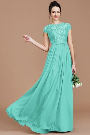 A-Line Jewel Lace Short Sleeves Bridesmaid Dress - 20