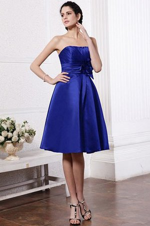 Zipper Up Princess Short Flowers Pleated Bridesmaid Dress - 23