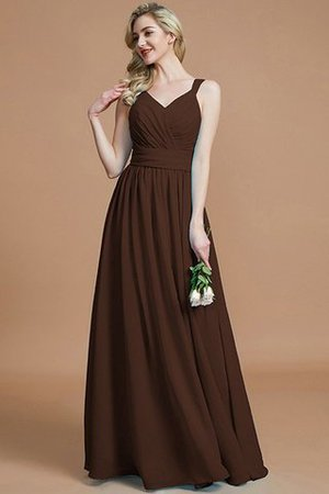 Sleeveless Natural Waist A-Line V-Neck Bridesmaid Dress - 13