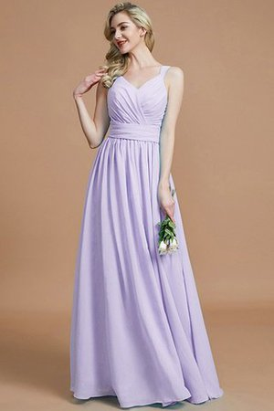 Sleeveless Natural Waist A-Line V-Neck Bridesmaid Dress - 25