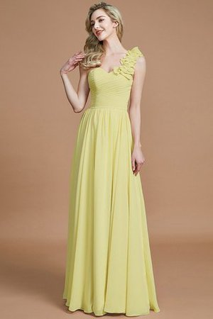 Sleeveless Natural Waist One Shoulder A-Line Chiffon Bridesmaid Dress - 13