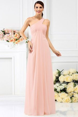 Zipper Up Long Floor Length A-Line Bridesmaid Dress - 21