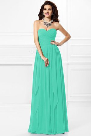 A-Line Zipper Up Long Floor Length Bridesmaid Dress - 15