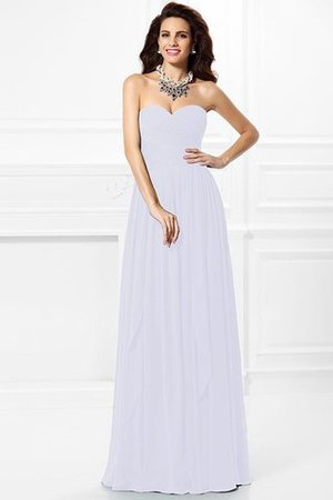 A-Line Zipper Up Long Floor Length Bridesmaid Dress - 29