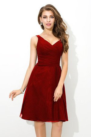 Chiffon Princess Sleeveless Natural Waist Draped Bridesmaid Dress - 23