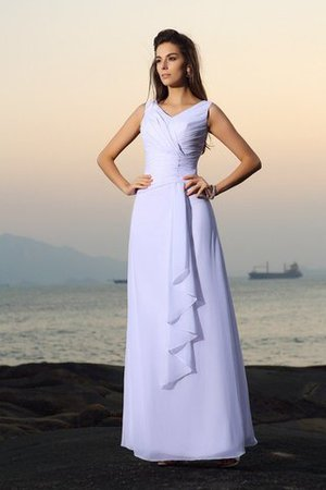 Beading Sleeveless A-Line Zipper Up Empire Waist Wedding Dress - 1