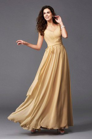 Sashes Floor Length Spaghetti Straps A-Line Bridesmaid Dress - 26