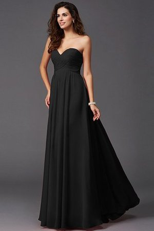 A-Line Sleeveless Chiffon Empire Waist Bridesmaid Dress - 2
