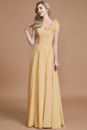 Sleeveless Natural Waist One Shoulder A-Line Chiffon Bridesmaid Dress - 17