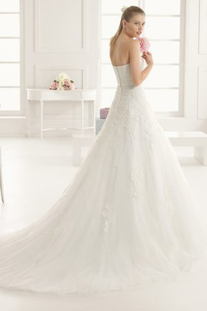 Natural Waist Swing Floor Length A-Line Wedding Dress - 2