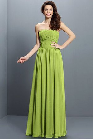 Strapless A-Line Pleated Zipper Up Bridesmaid Dress - 14
