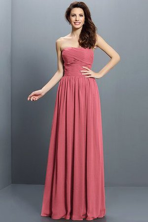 Strapless A-Line Pleated Zipper Up Bridesmaid Dress - 28