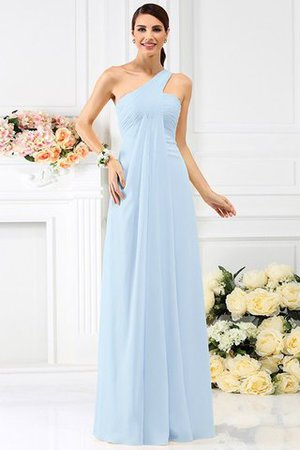 Zipper Up Long Floor Length A-Line Bridesmaid Dress - 18