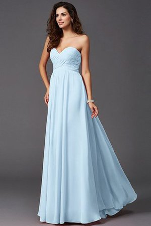 A-Line Sleeveless Chiffon Empire Waist Bridesmaid Dress - 18