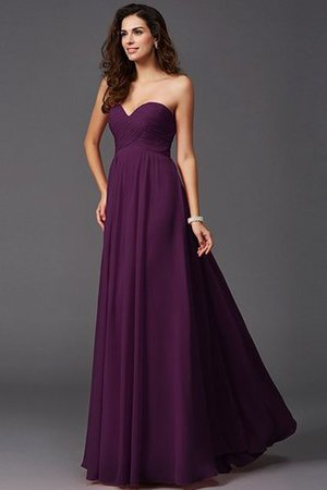 A-Line Sleeveless Chiffon Empire Waist Bridesmaid Dress - 14
