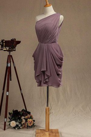 A-Line One Shoulder Pleated Ruffles Informal & Casual Bridesmaid Dress - 2