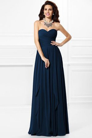 A-Line Zipper Up Long Floor Length Bridesmaid Dress - 12
