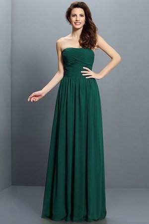 Strapless A-Line Pleated Zipper Up Bridesmaid Dress - 9