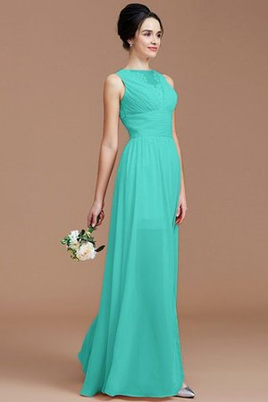 Ruched Zipper Up Natural Waist Jewel Sleeveless Bridesmaid Dress - 20