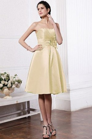 Zipper Up Princess Short Flowers Pleated Bridesmaid Dress - 6