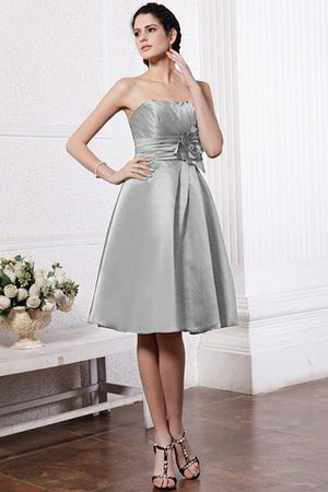 Zipper Up Princess Short Flowers Pleated Bridesmaid Dress - 26