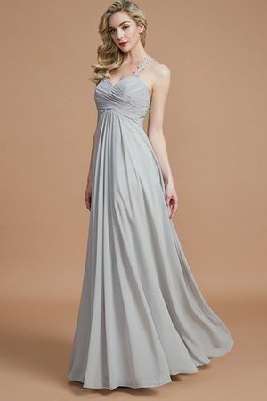 Natural Waist Floor Length Sweetheart Ruched Princess Bridesmaid Dress - 1