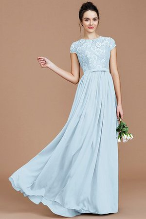 A-Line Jewel Lace Short Sleeves Bridesmaid Dress - 24