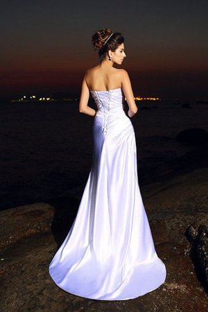 Chapel Train Lace-up Sleeveless Beach Mermaid Wedding Dress - 2