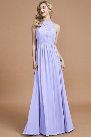 Sleeveless Floor Length A-Line Scoop Bridesmaid Dress - 22