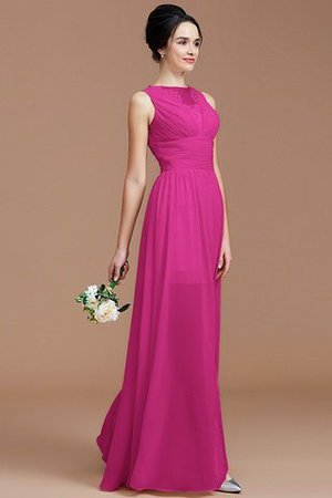 Ruched Zipper Up Natural Waist Jewel Sleeveless Bridesmaid Dress - 16