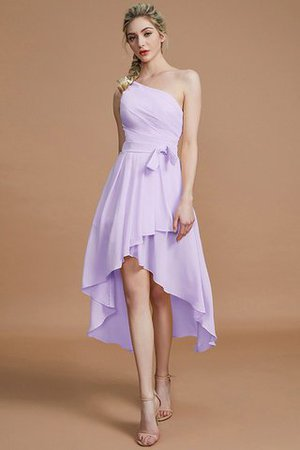 Asymmetrical Chiffon Natural Waist Bridesmaid Dress - 24