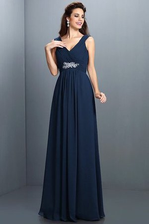 A-Line Chiffon Long Sleeveless Bridesmaid Dress - 10